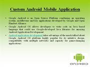 Custom Android Mobile Application