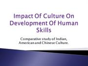 COMPARATIVE STUDY OF INDIAN CHINESE AMERICAN WORK CULTURE