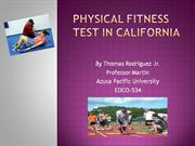 Physical Fitness Test in California