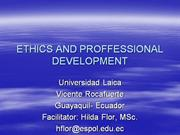 ETHICS AND PROF DEVEL (Theory)