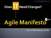 Does Agile Manifesto Need Changes?