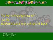 reproductive health bill update