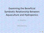 Aquaculture and Hydroponics