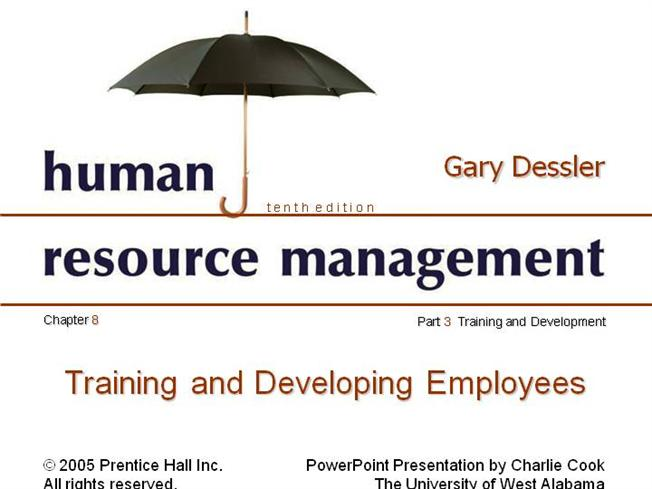 purpose of training and development in hrm