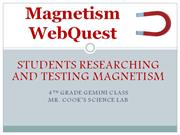 Magnetism WebQuest PowerPoint