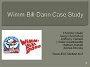 Wimm-Bill-Dann Case Study