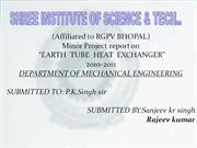 earth tube heat exchanger ppt