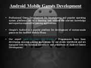 Android Mobile Games Development