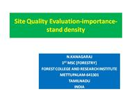 Site Quality Evaluation-importance-  STAND DENSITY