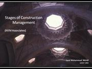 stages of construction management at kkm