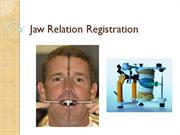 Jaw Relation Regestration