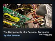 the components of a personal computer