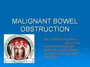 MALIGNANT BOWEL OBSTRUCTION