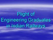 Plight of Engineering Graduates in Railways