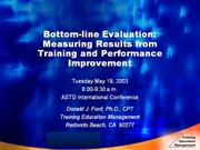 improving training