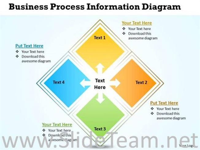 business information process flow diagram powerpoint diagram
