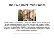 the five hotel paris france - hotels