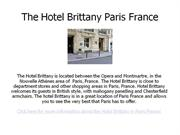 the brittany hotel, paris, france