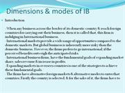 Dimensions & mode of I B