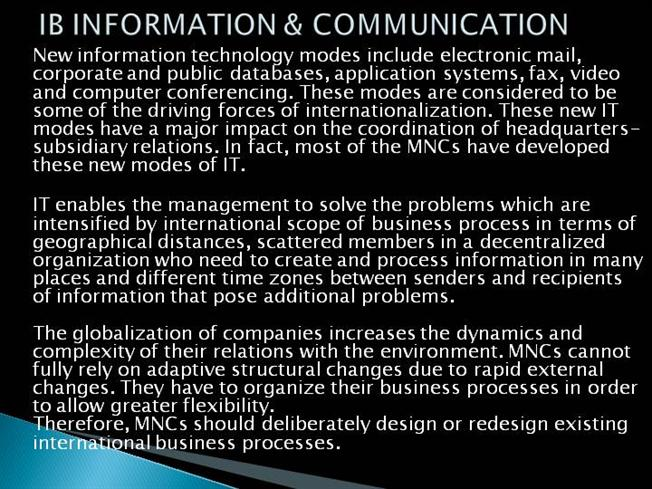 Int Business Information And Communication |authorSTREAM