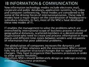 int.business information and communication