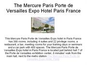 the mercure paris porte de versaille expo hotel in paris france