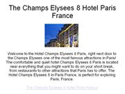 the champs elysees 8 hotel paris france