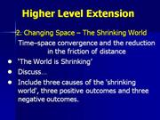 changing space - the shrinking world\changing space