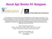 9958463986** Ansal Api gurgaon