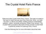 the crystal hotel paris france