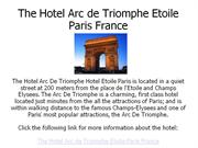 the hotel arc de triomphe etoile paris france