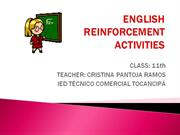 ENGLISH REINFORCEMENT ACTIVITIES - 11th grade