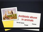 antibiotic abuse in animalz