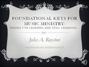 foundation keys for music ministry