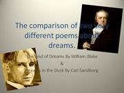 The comparison of two very different poems about dreams