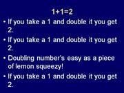 doubling numbers easy as lemon squeezy
