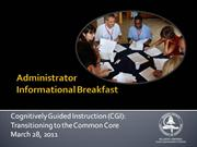 cgi: transitioning to the common core