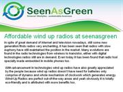 affordable wind up radios at seenasgreen