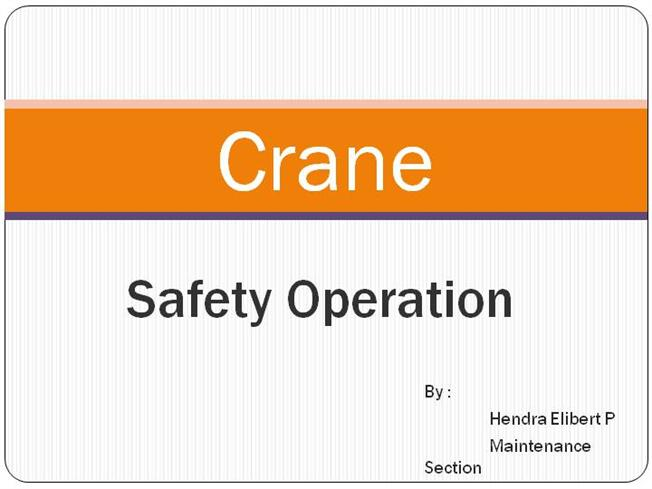 Training Operational Crane |authorSTREAM