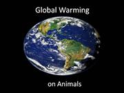 Global Warming on Animals