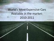 World�s Most Expensive Cars        2010-2011
