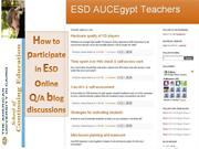 How to participate in ESD online Q/A blog discussions