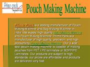 pouch making machine, bag making machine