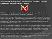 finger slayer a thrilling iphone game, becomes #1 free iphone app in 1