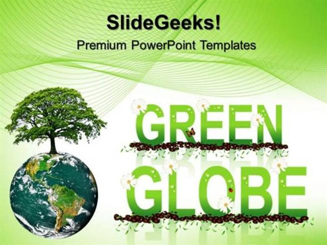 Green energy green globe environment ppt template 1 powerpoint template related powerpoint templates toneelgroepblik Images