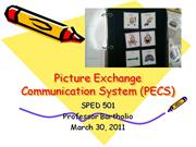 Instructional Strategy PPT. PECS