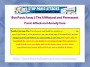 Panic Away Enabling Panic Attack Sufferers to Naturally Stop Attacks