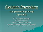 CMESAC290311 Geriatric psychiatry