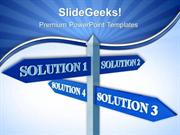 BUSINESS SOLUTION SIGNPOST BUSINESS PPT TEMPLATE 2