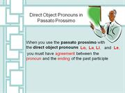 Direct Object Pronouns in the past